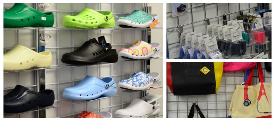 Nurses Anti Slip Shoes, Clogs, and Socks. Nurses Accessoris like Bags, Watches, Organizers, Pins, Reference Cards, and more..