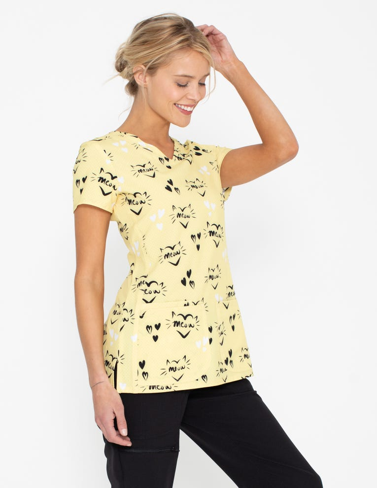 Top, V-Neck Meow Or Never